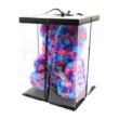 Rózsa maci díszdobozban 40 cm - mix (kék - rózsaszín - lila)