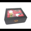 Szappan rózsadoboz Wonderful Present - fekete - levehető tetővel