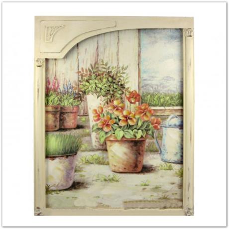 Falikép csendélet - virág és locsolókanna 44cm x 56cm