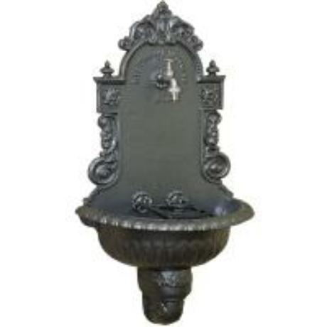 Kerti falikút - kalapácslakk ezüst