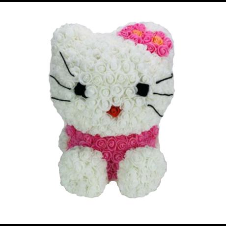 Rózsa cica, örök virág Hello Kitty - 42cm